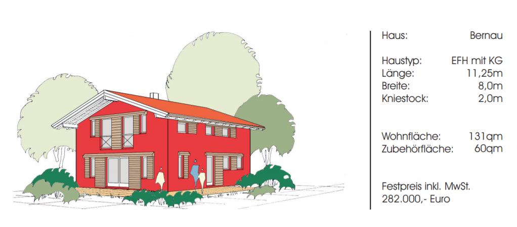 Musterhaus Einfamilienhaus in Bernau