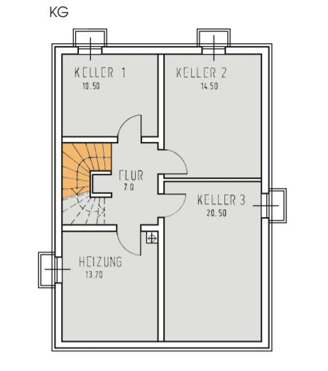 Planbeispiel Keller Einfamilienhaus in Bernau