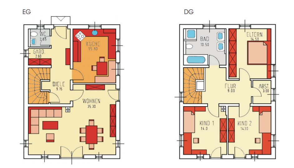 Planbeispiel Einfamilienhaus in Bernau